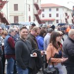 Thousands of guests waited in line outside the Festival Pavilion at Fort Mason