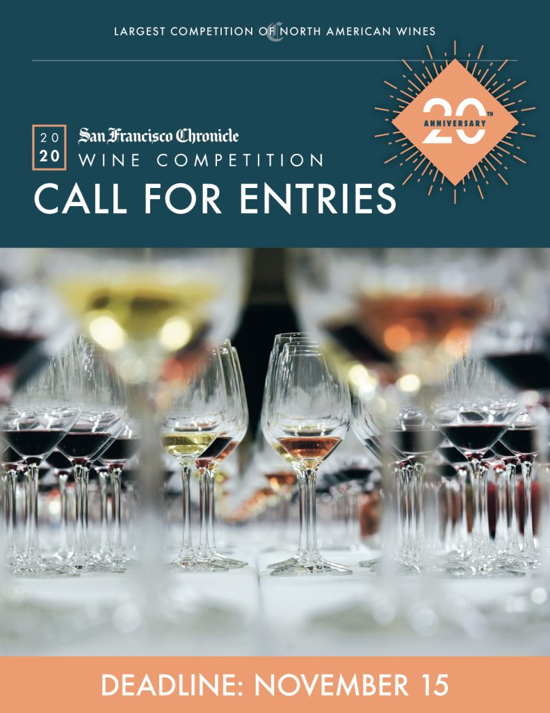 2020 San Francisco Chronicle Wine Competition Entry Booklet